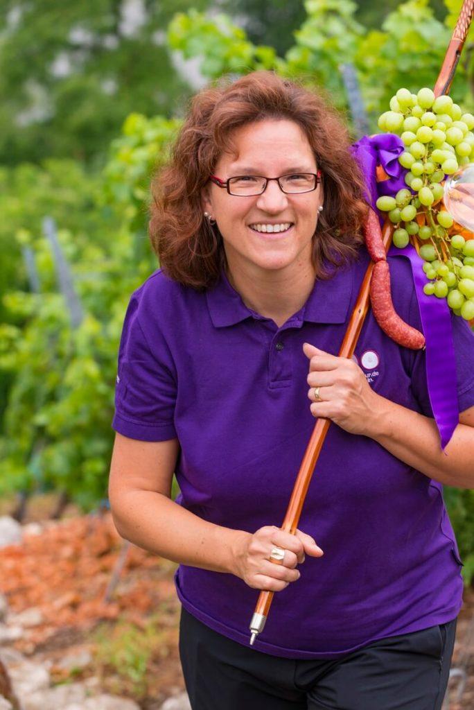 Foto der Leiterin der Stuttgarter Weinprobe